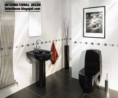 black floor tiles for bathroom and toilet,black bathroom sets