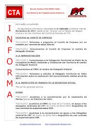 C.T.A. INFORMA, LO REALIZADO EN NOVIEMBRE 2017