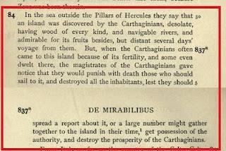 Aristotle on America and Carthage