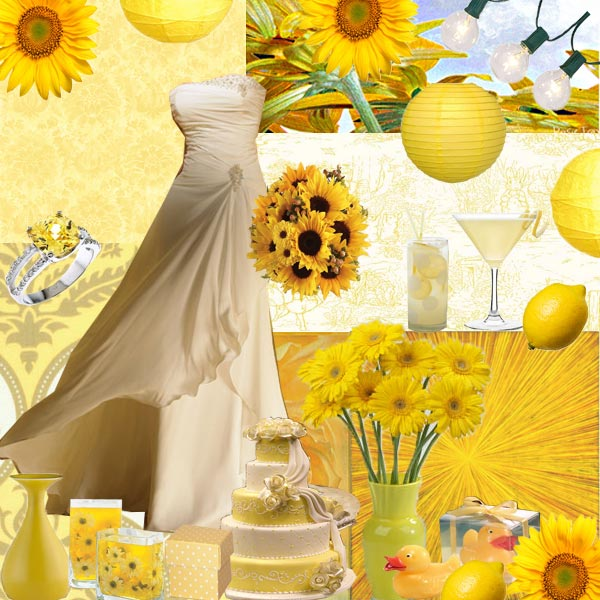 I want a yellow wedding theme because yellow looks like sunflower that