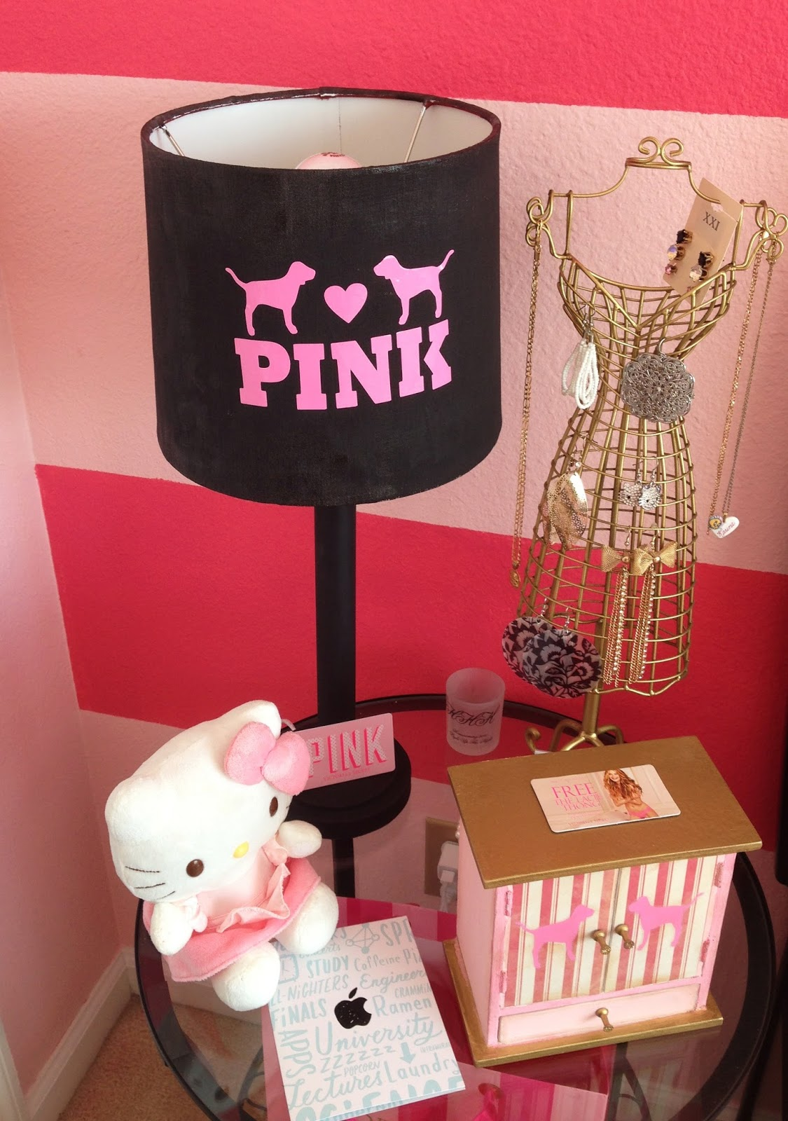 Victoria s Secret Pink inspired bedroom. Craft Room Secrets  Victoria s Secret Pink inspired bedroom