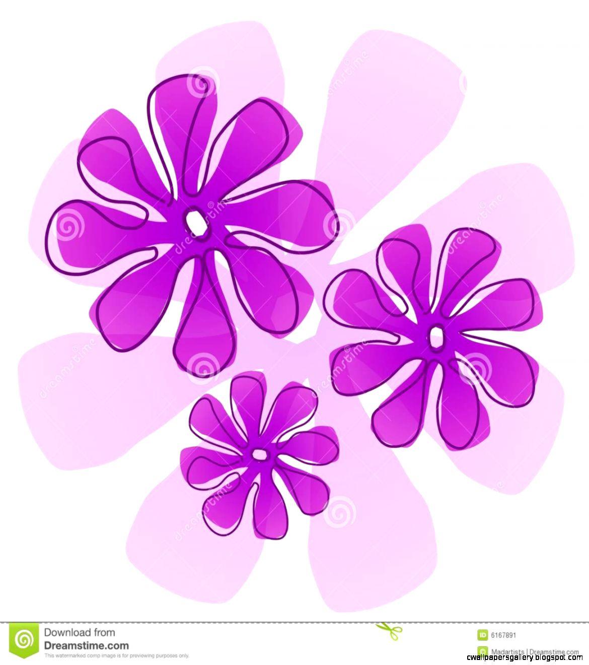 Purple Flowers Clip Art Stock Image   Image 6167891