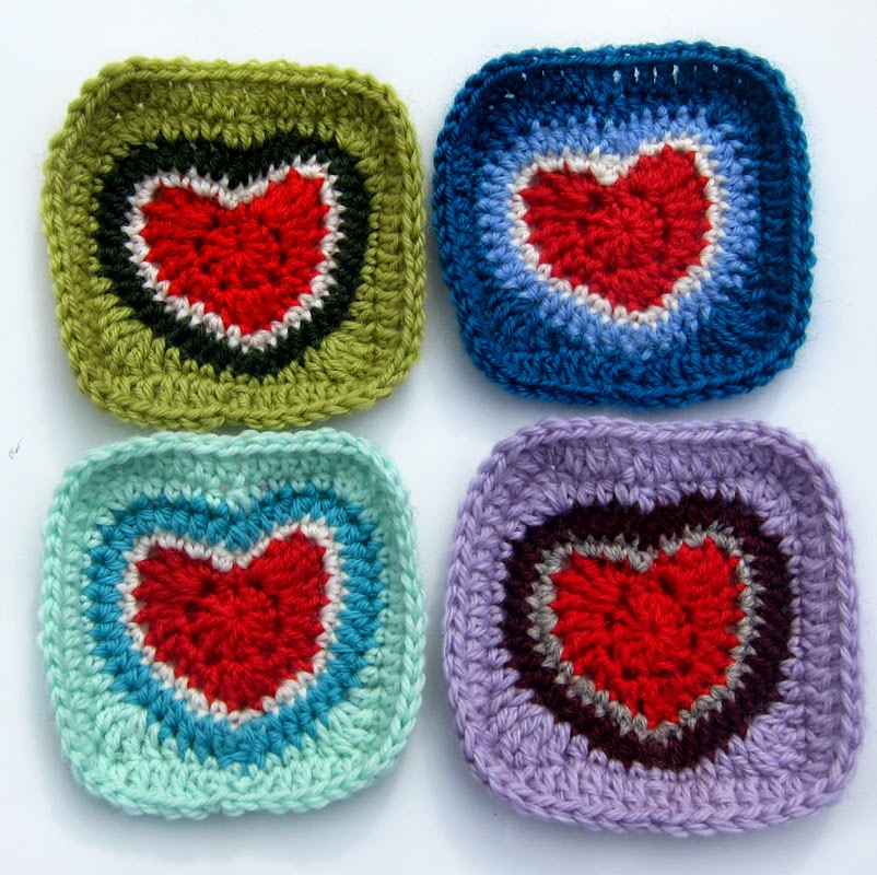 A Love Heart Granny Square - Crochet Pattern