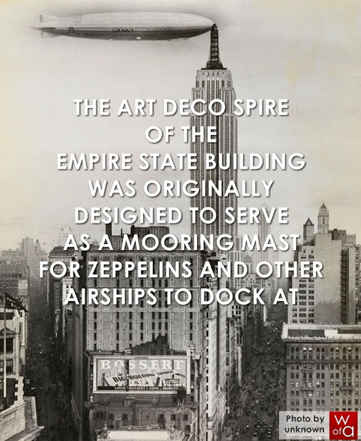 Empire STate Building with zeppelin