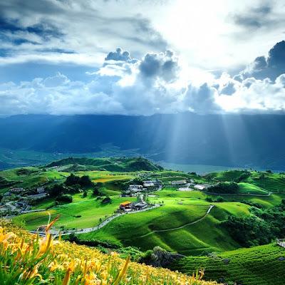 Liushishi Shan, Taiwan. Poblados rurales.