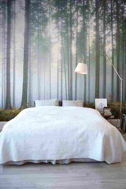 dekorasi kamar tidur hutan