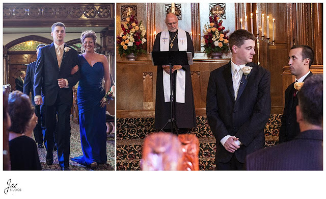 Fall Brown and Red Country Club Wedding Western Pennsylvania