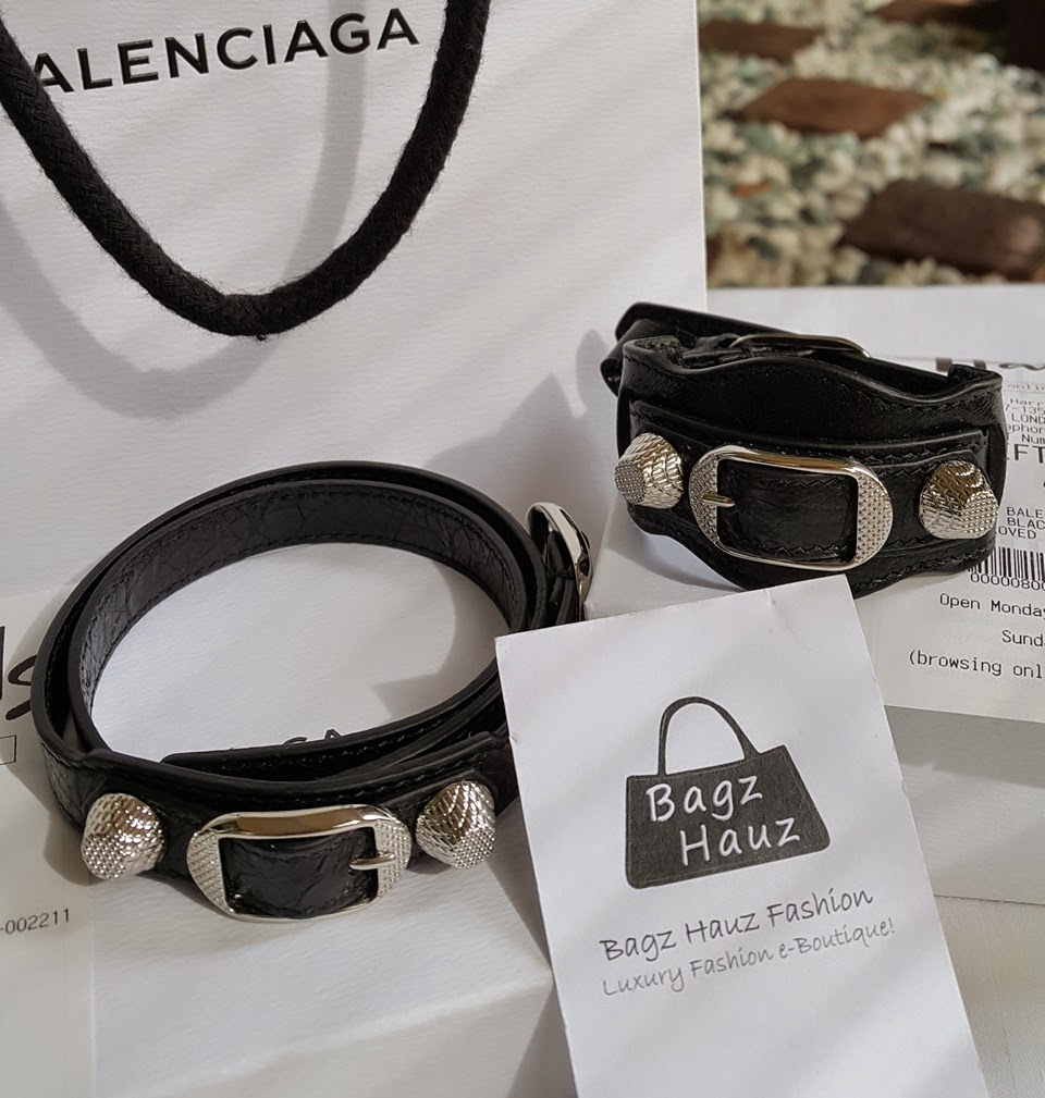 Balenciaga Giant Silver Leather & Triple Tour Bracelets  Color: Black ~  For Cherish ~ ♥♥1st Time Customer♥♥