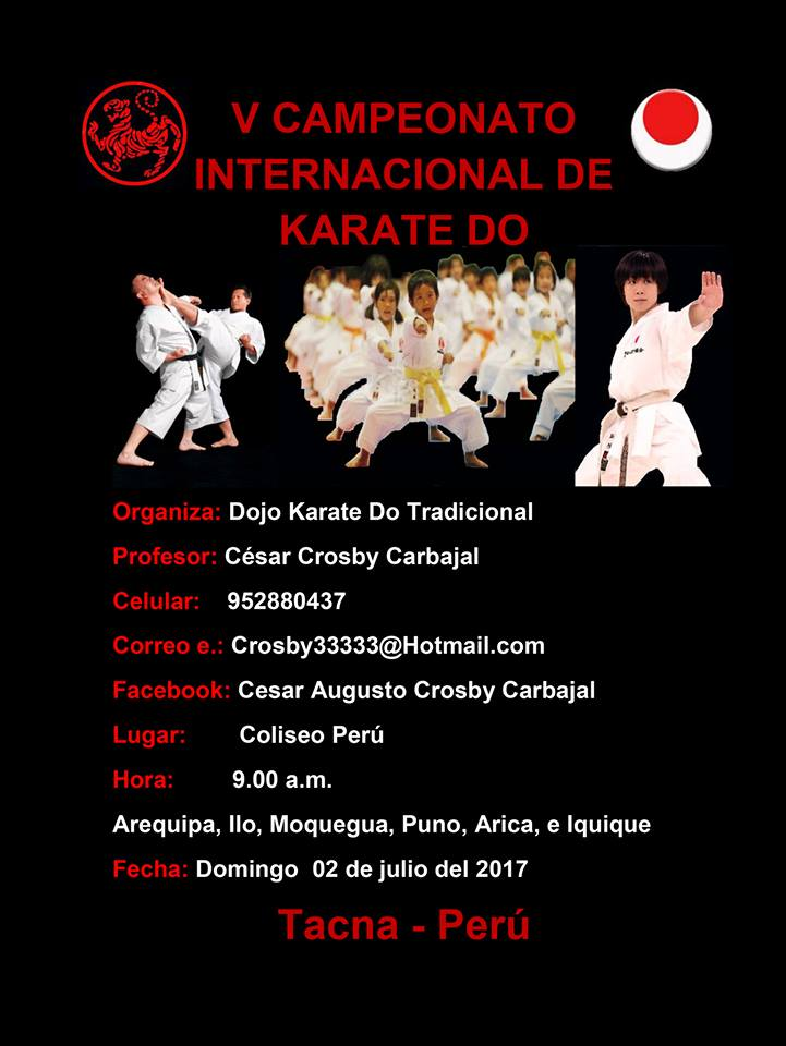 V CAMPEONATO INTERNACIONAL DE KARATE DO Tacna-Perù