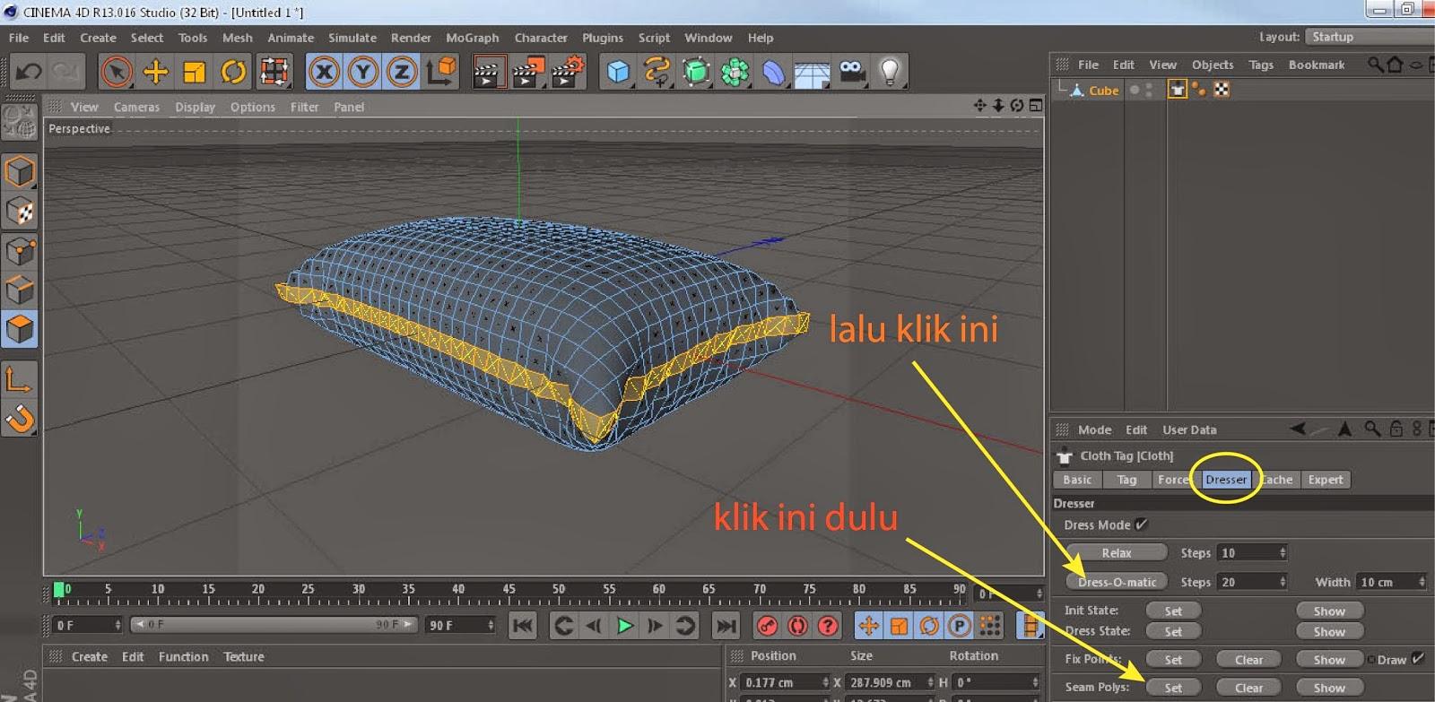 Tutorial Membuat Model Bantal Dengan Cinema 4D