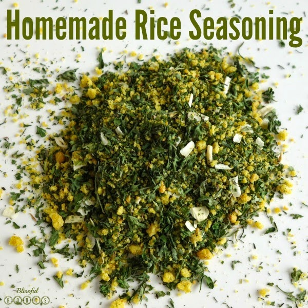 Homemade Rice Seasoning @ Blissful Roots