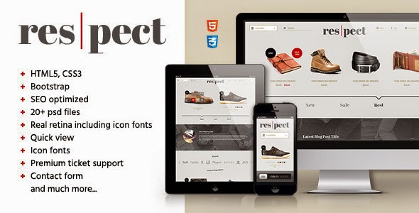 Respect - Edgy Shop / Blog HTML Template
