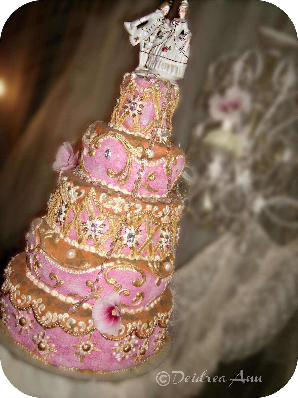 Suzy Homefaker Pink Dream Baroque Wedding Cake