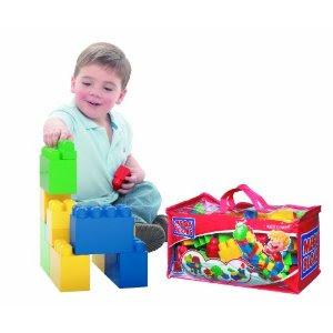 Pre-kindergarten toys - Mega Bloks 200 Piece Duffle Bag (08222V)
