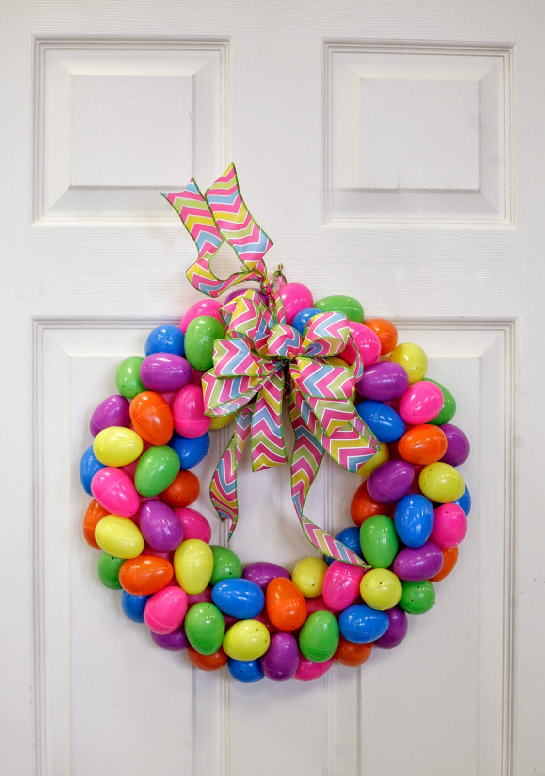 bright easter egg wreath for your front door