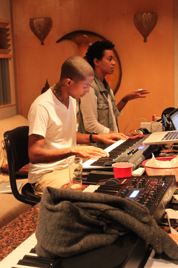 Pharrell And Solange Have A Moment In The Music Studio