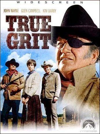 DVD artwork True Grit 1969 movieloversreviews.blogspot.com