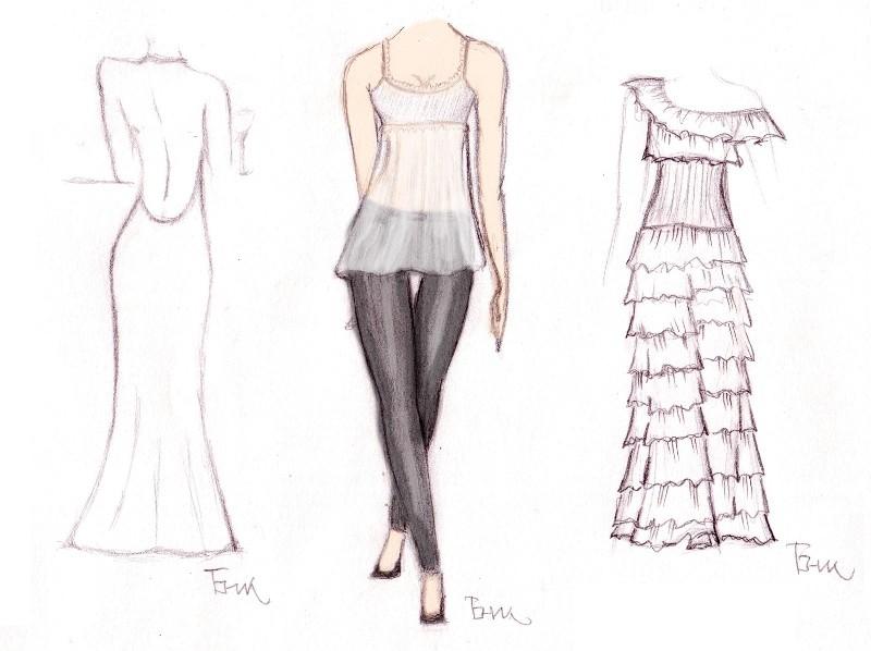 Макет для дизайна одежды