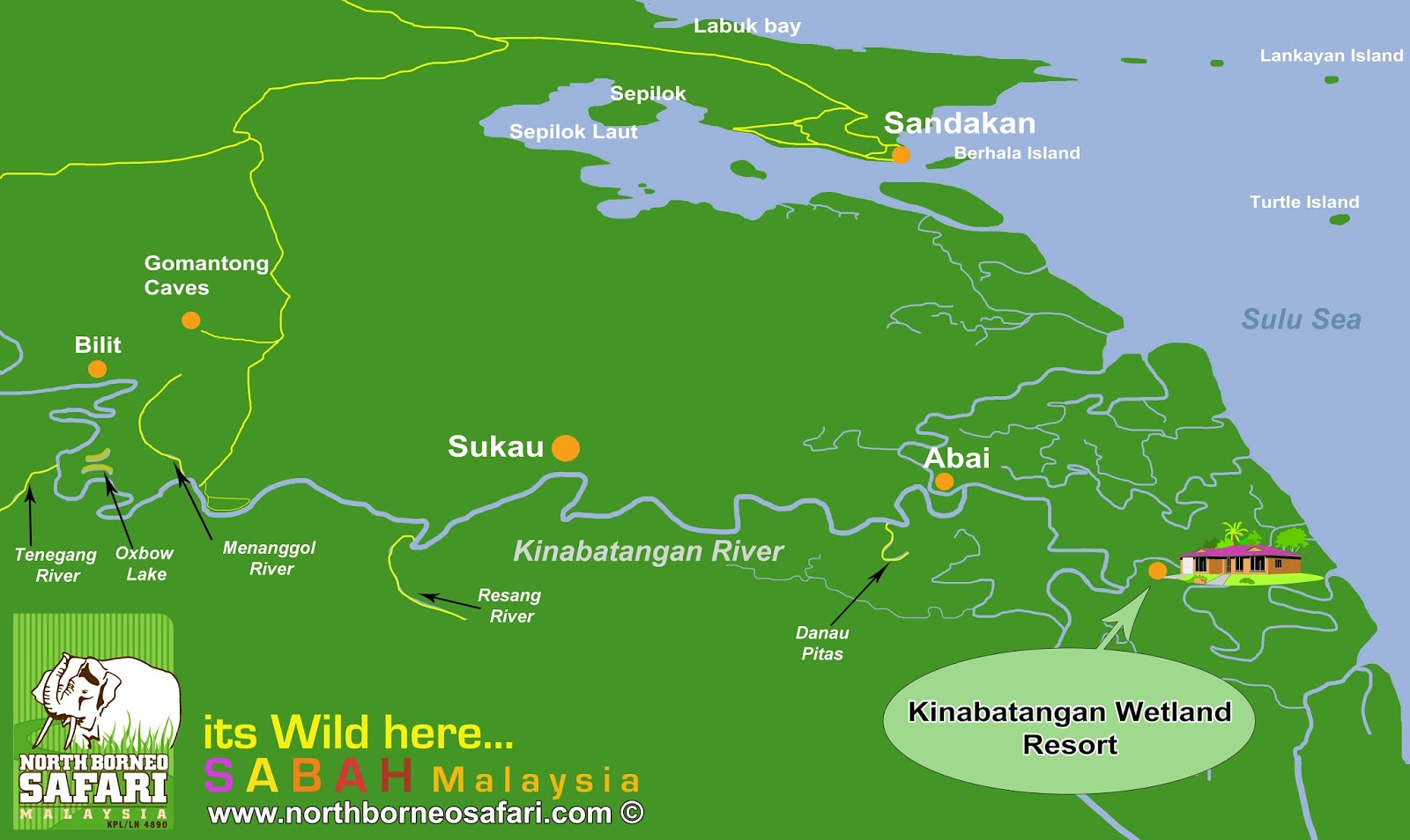 Lower KinabatanganSegama Wetlands Sandakan Borneo Safari