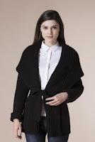 Cardigan negru din lana 4522 (Ama Fashion)