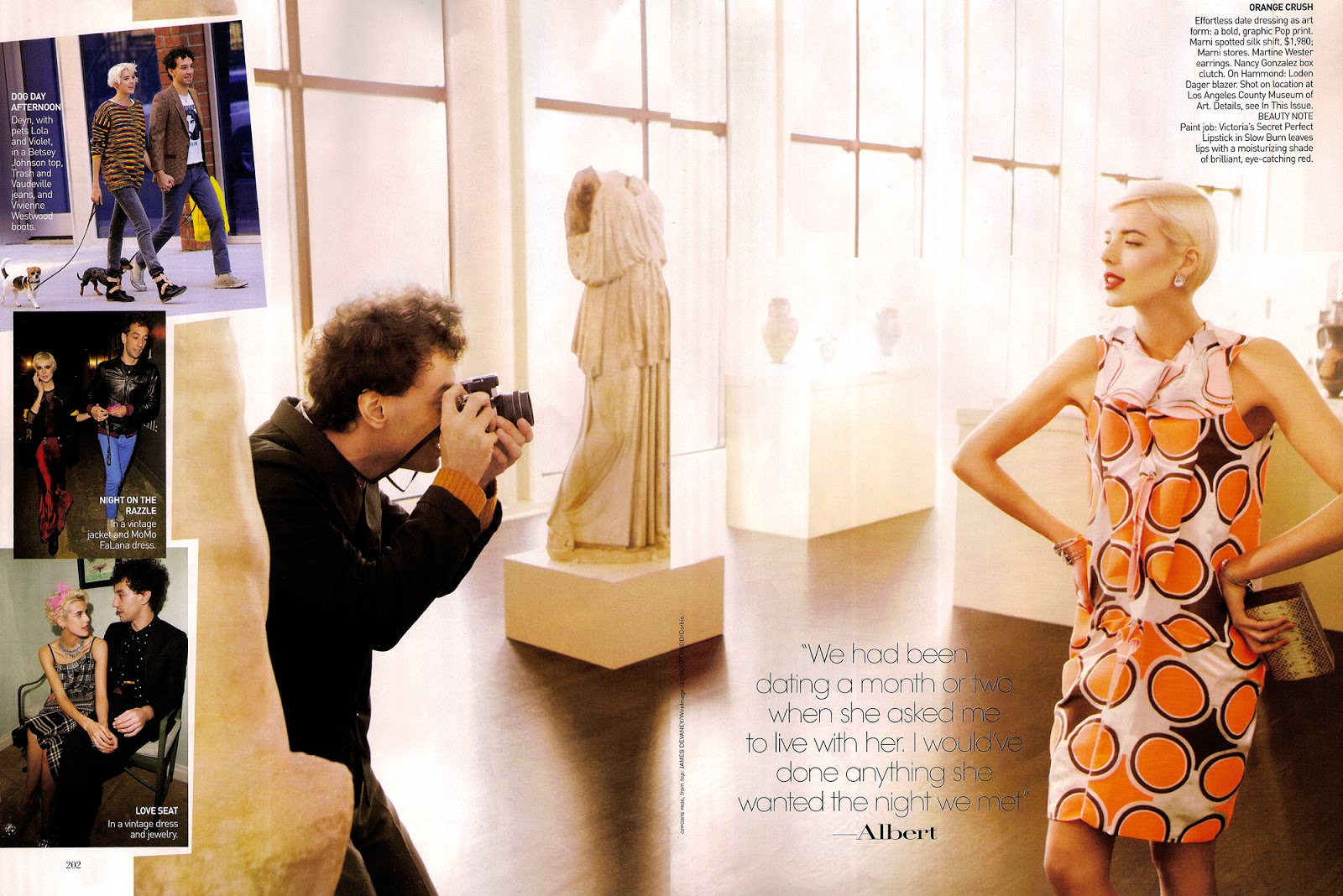 Agyness Deyn & Albert Hammond in Perfect harmony / Vogue US February 2009 (photography: Mikael Jansson) via fashioned by love british fashion blog