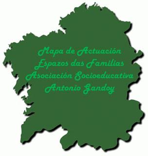 Mapa de Actuación Asociación Socioeducativa Antonio Gandoy