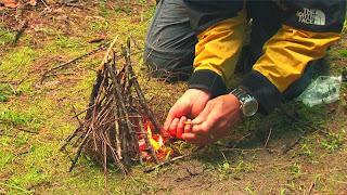 cara membuat api dalam survival.