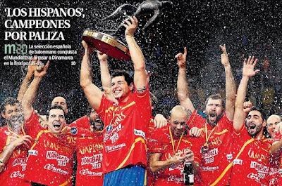 España campeona mundial de balomnano