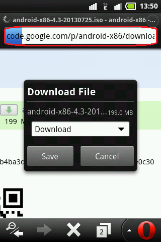 Opera Mini BIG File Download Trick
