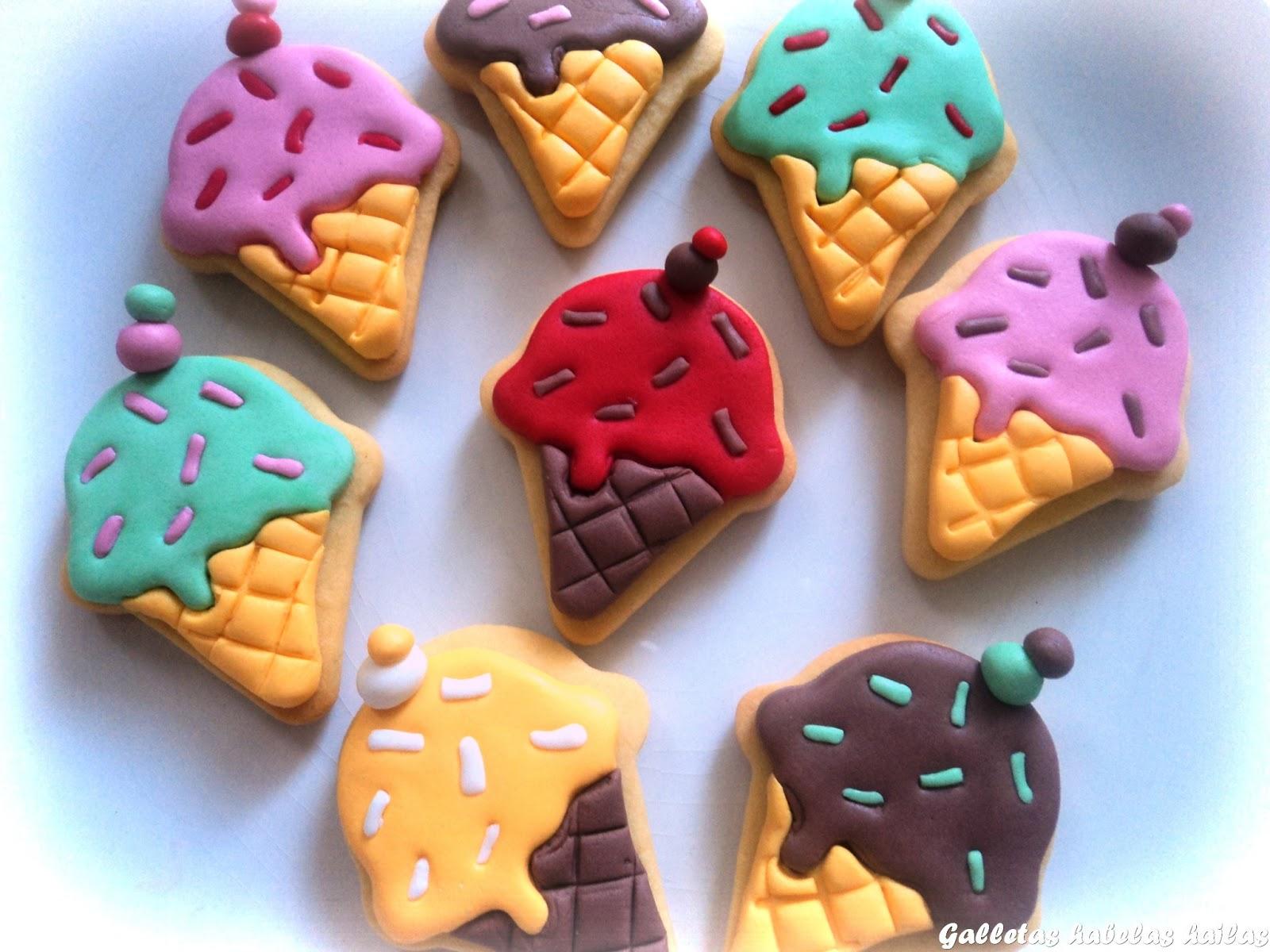 Galletas habelas hailas galletas mini helados de verano - Decoracion de helados ...