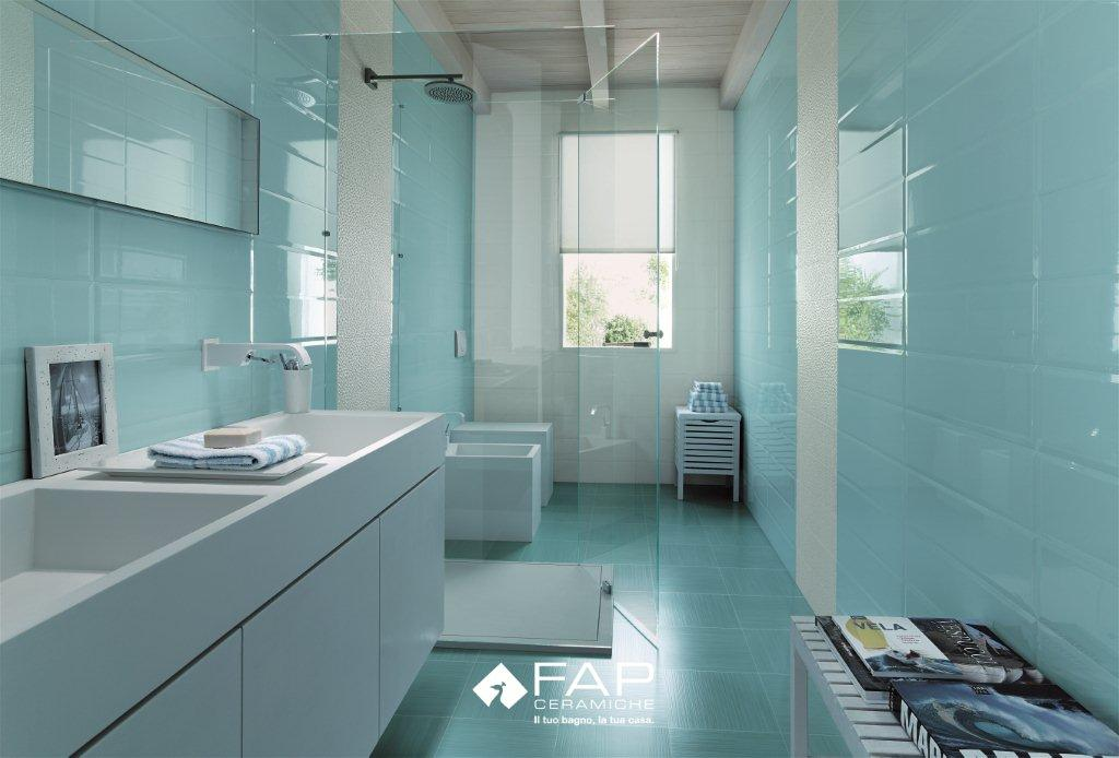 L 39 univers d 39 in s today i love sunny colors - Carrelage salle de bain bleu ...