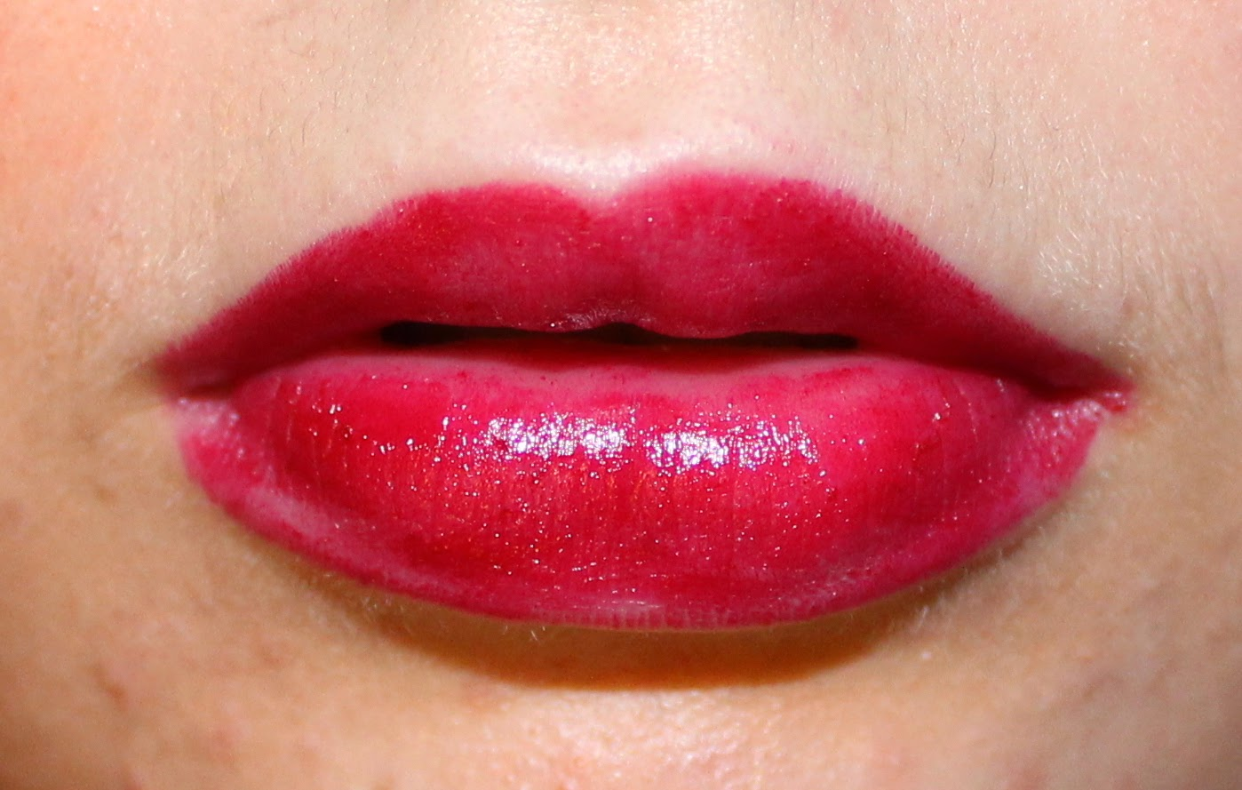 Annabelle TwistUp Retractable Lipstick Crayon in Cherry on Lips