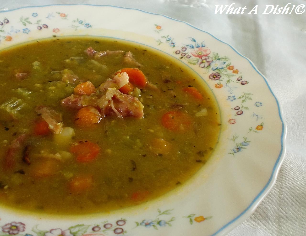 What A Dish!: Slow Cooker Ham & Split Pea Soup