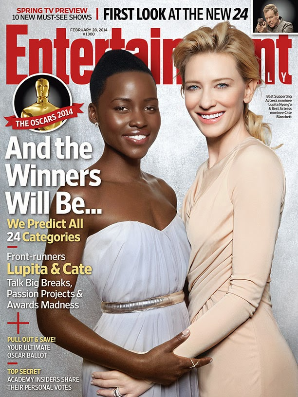 Lupita Nyong'O and Cate Blanchett Photos from Entertainment Weekly #1300 Magazine Cover February 2014 HQ Scans