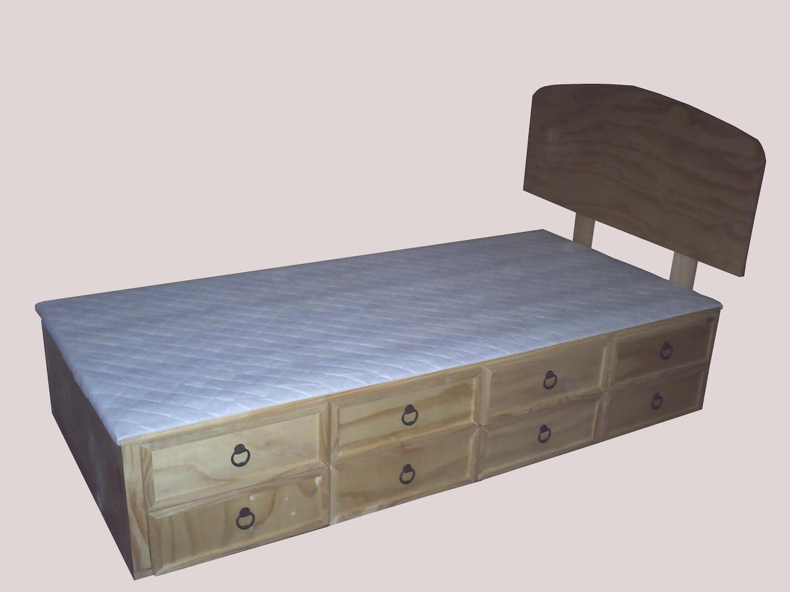 Decoracion mueble sofa camas con cajonera for Mueble cama con cajones