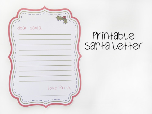 Laugh, Love, and Craft: List of Printable Letters to & From Santa