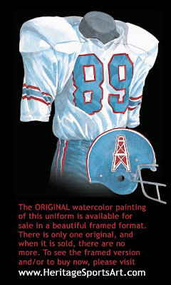 Houston Oilers 1973 uniform - Tennessee Titans 1973 uniform