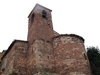 El campanar i l'absis de l'església de Sant Iscle i Santa Victòria de Bages