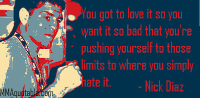 Quotes About Love Versus Hate : Love Vs Hate Quotes Nick diaz: theres no love in