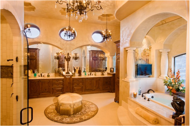 Luxury Mediterranean Master Bathroom