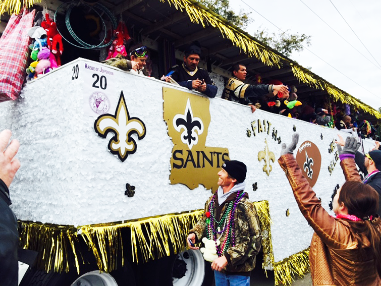 new orleans saints float
