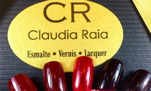 Claudia Raia para Luxor coleção esmaltes vermelhos