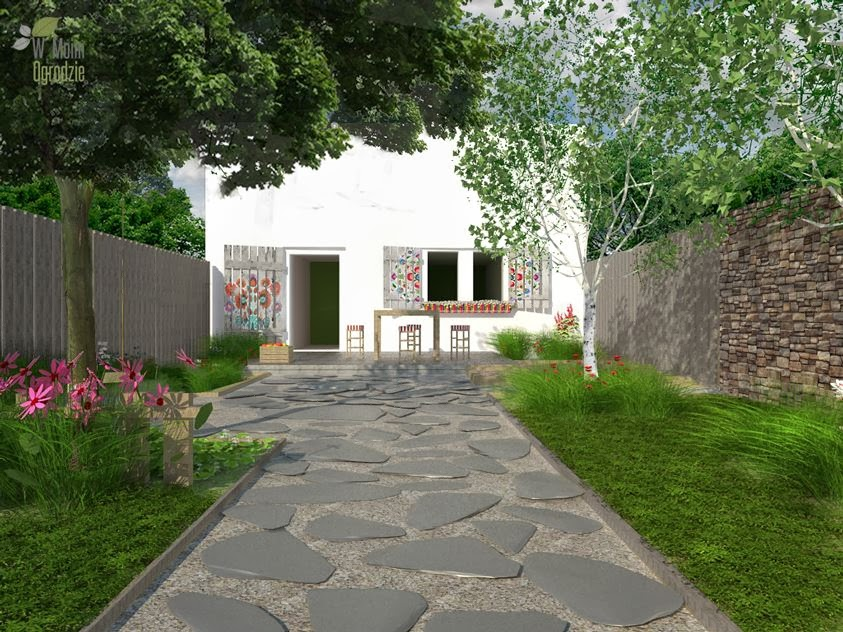 ogród, folk, styl, wieś, polny ogród