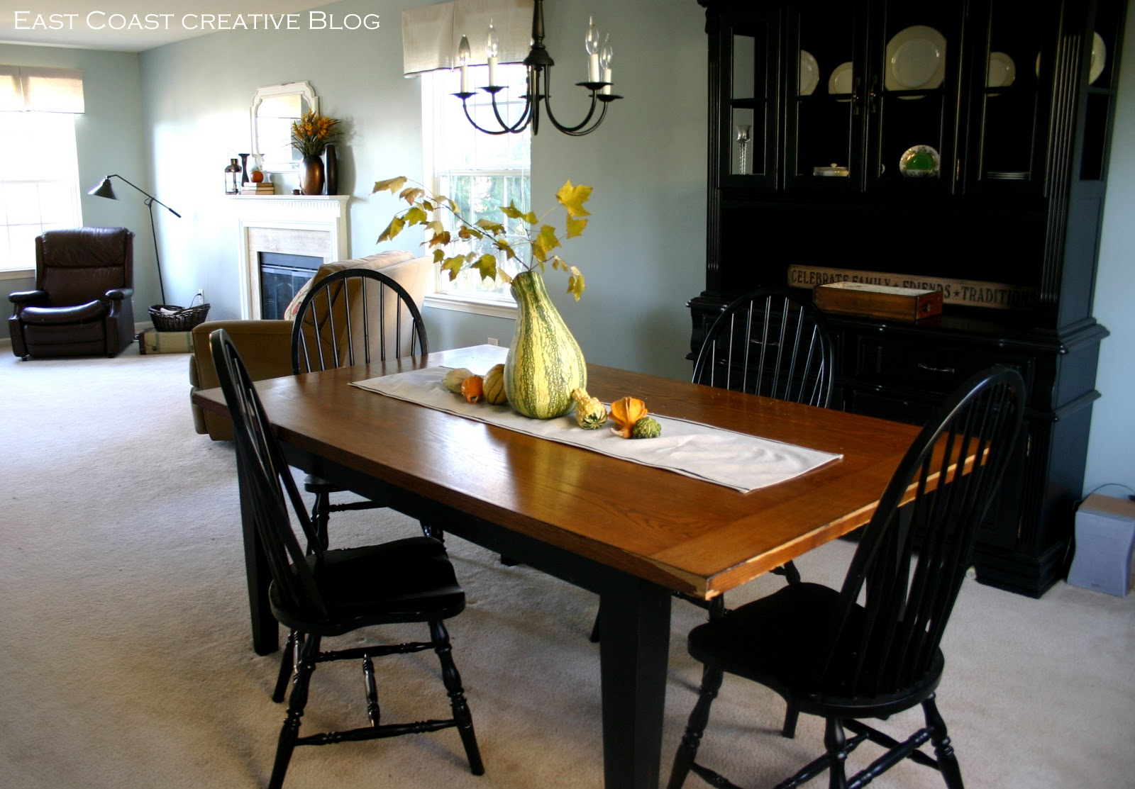 Refinished Dining Room Table {Furniture Makeover}