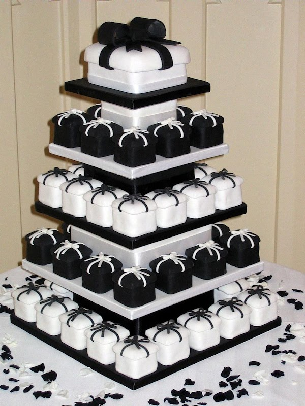 Black And White Wedding Cupcakes Pictures - Tyler Living