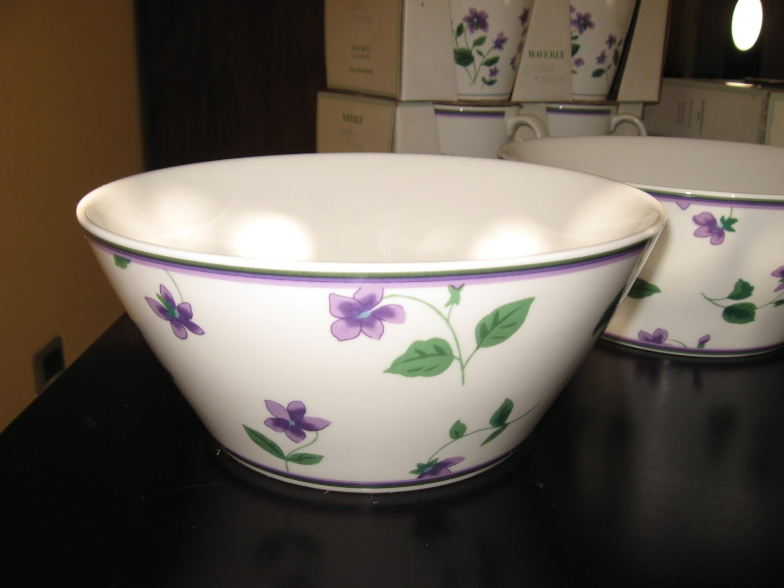 Waverly Garden Room Sweet Violets 2 Serving Bowls
