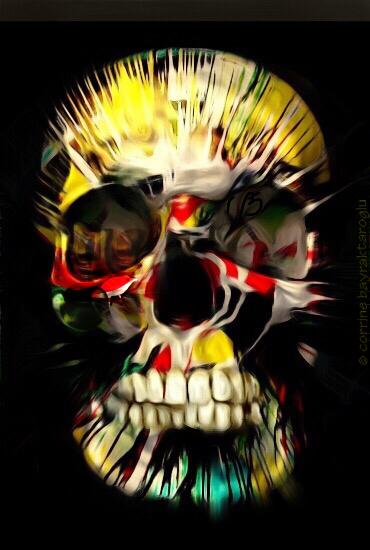 skull art, halloween