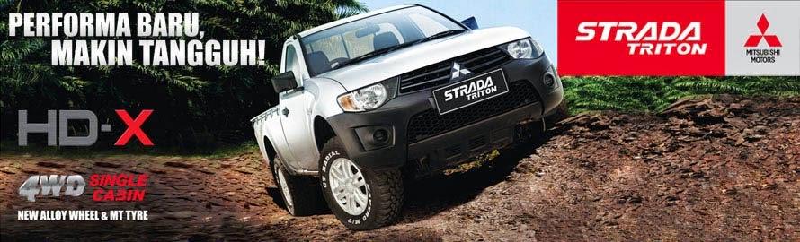 Mitsubishi Strada Triton 4WD Single Cabin HD-X Jambi