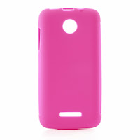 Skidproof TPU Jelly Case for Lenovo A390 - Pink