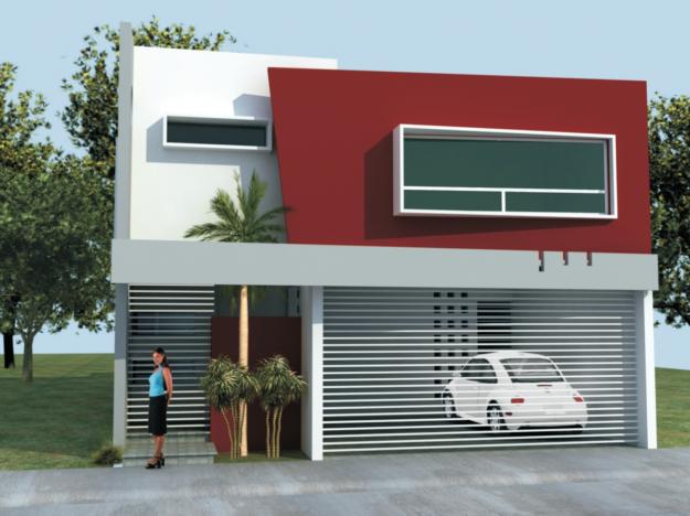 Fachadas de casas modernas marzo 2014 for Colores modernos para exteriores